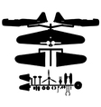 Model aircraft silhouette vector image vector image