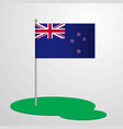 new zealand flag pole vector image