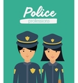 officer profession design vector image