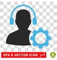 Operator Configuration Eps Icon vector image