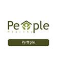 people healthy logo vector image vector image