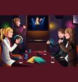 people singing karaoke vector image