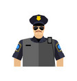 police officer portrait policeman in uniform vector image vector image