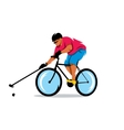 Polo on the bike Cartoon vector image vector image