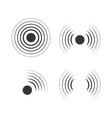 radar icons sonar sound waves vector image vector image