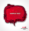 Retro style red speech bubble vector image vector image
