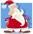 santa claus character cartoon vector image vector image