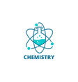 science laboratory logo icon chemical flask vector image
