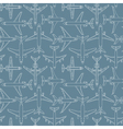 seamless pattern with passenger airplanes 01 vector image