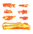 set of orange background texture elements vector image
