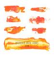 set orange background texture elements vector image vector image