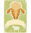 sheep grunge vector image