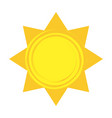 shiny sun cool weather climate icon vector image