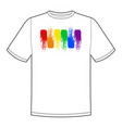 sign print for t-shirt with pride lgbt vector image vector image