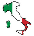 simplified map of italy outline with slightly vector image