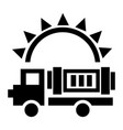solar energy truck icon simple style vector image