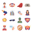 suit sign superman and other web icon in vector image