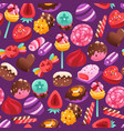 super sweet valentines day candies seamless vector image