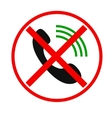 Telephone not allow sign vector image