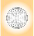 The circle of dots Dotted black circle vector image vector image