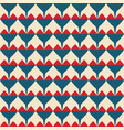 tile pattern with red and blue hearts on pastel vector image vector image