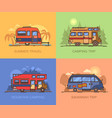 van and truck for travels recreational vehicle vector image