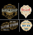 vintage logos organized by layers vector image vector image