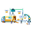 warehouse automation technology and logistics vector image