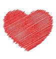 wooden valentine vector image vector image
