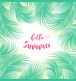 palm tree leaves vector image