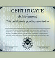 certificate template with luxury and modern vector image