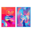 abstract liquid gradients background in vibrant co vector image
