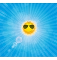 Abstract natural background with funny sun vector image vector image