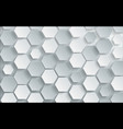 abstract white hexagon background design vector image vector image