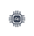 ai chipset artificial intelligence icon vector image vector image