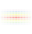 airplane intercepter spectrum halftone array vector image vector image