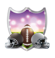 American Football and Helmets Badge Emblem vector image vector image