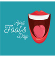 april fools day celebration card vector image
