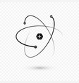 atom structure nucleus and electrons icon vector image vector image