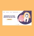 baby clothing fashion kids winter collection of vector image vector image