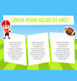 banner with funny cartoon child sportsman vector image vector image