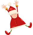 boy santa claus christmas cartoon vector image