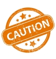 Caution grunge icon vector image vector image