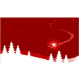 Christmas background with shooting star vector image vector image