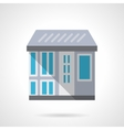 City storefronts flat color design icon vector image vector image