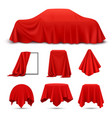cloth covered objects realistic set vector image vector image