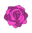 comic style flower icon vector image vector image