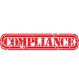 Compliance stamp vector image vector image