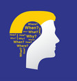 concept of question vector image vector image