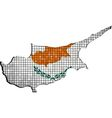 Cyprus map with flag inside vector image vector image